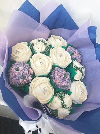 A beautiful cupcake bouquet this week.jp