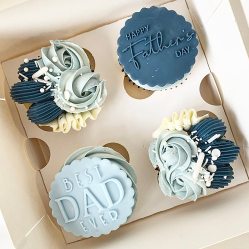 4 x  Vanilla Fathers Day Cupcakes £15