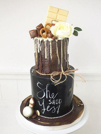 Another beautiful engagement cake this w