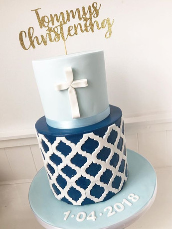 A beautiful christening cake for Tommy's