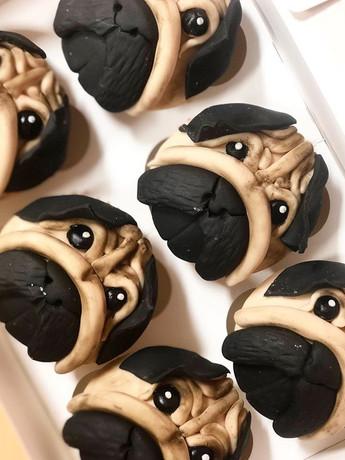 Pug cakes! #pug #pugsofinstagram #pugpup