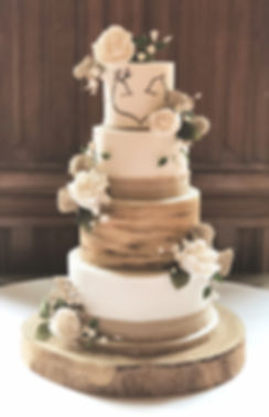 Four Tier Rustic Weding Cake