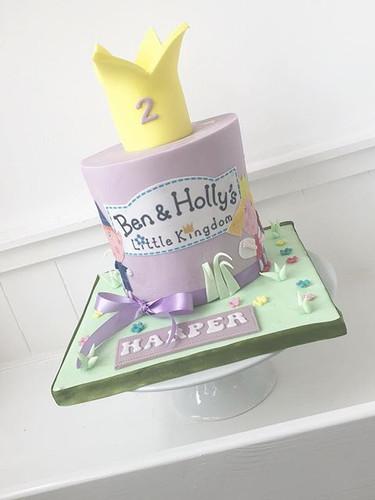 Ben & Holly cake for Harper's second bir