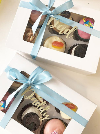 Father's Day cupcake boxes - 6 flavours