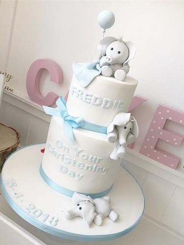 Cutest elephant christening cake for lit