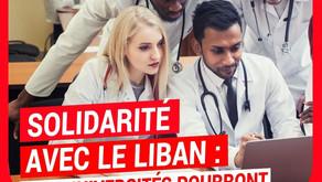 Solidarité avec le Liban : nos universités pourront accueillir davantage de médecins en formation