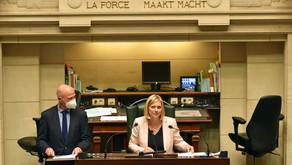 13/10/20 - Allocution de la Présidente à la Chambre des Représentants