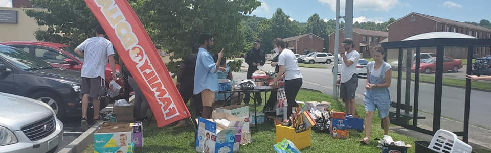 One of our Monday donation drives/community outreach outside of Johnson City Family Dollar