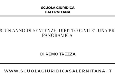"""""""2018: Un anno di sentenze. Diritto civile"""". Una breve panoramica – di Remo Trezza"""