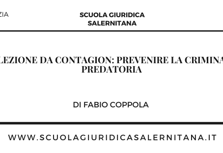 Una lezione da Contagion: prevenire la criminalità predatoria - di Fabio Coppola
