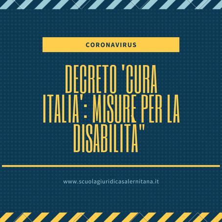 Decreto 'Cura-Italia': misure per la disabilità