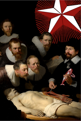 Carte postale - La leçon d'anatomie
