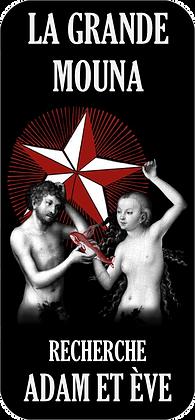 Autocollant - Adam et Ève