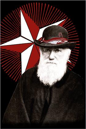 Carte postale - Charles Darwin