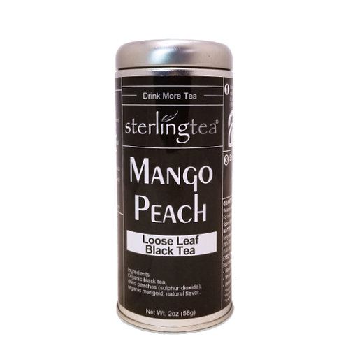 Mango Peach Loose Leaf Tea Tin (12 pack case)