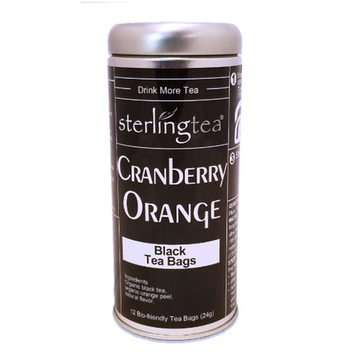 Cranberry Orange Tea Bag Tins (case of 12)