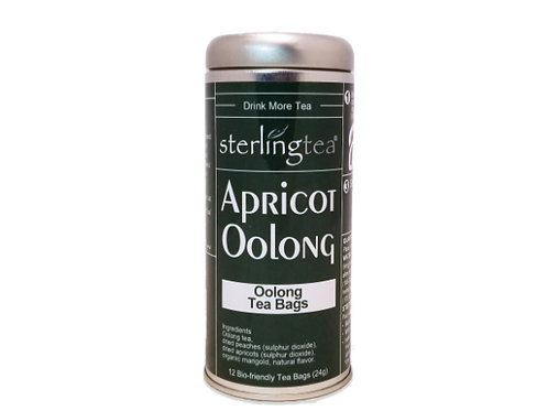 Apricot Oolong Tea Bag Tins (case of 12)