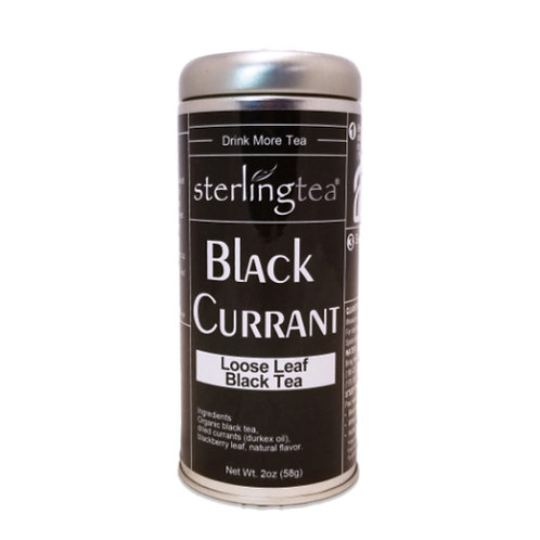 Black Currant Loose Leaf Tea Tin (12 pack case)