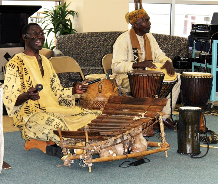 Lccc activity__Maxwell Kofi Donkor and Juma Sultan performed the African Drum and Dance Ensemble San