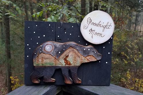 Small Goodnight Moon Bear unframed