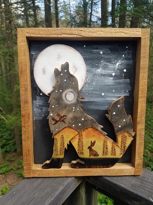 Howling Wolf Framed