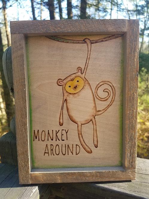 Safari Baby Animals-Monkey