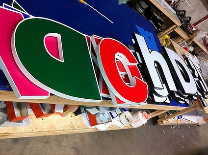 sign house, channel letter