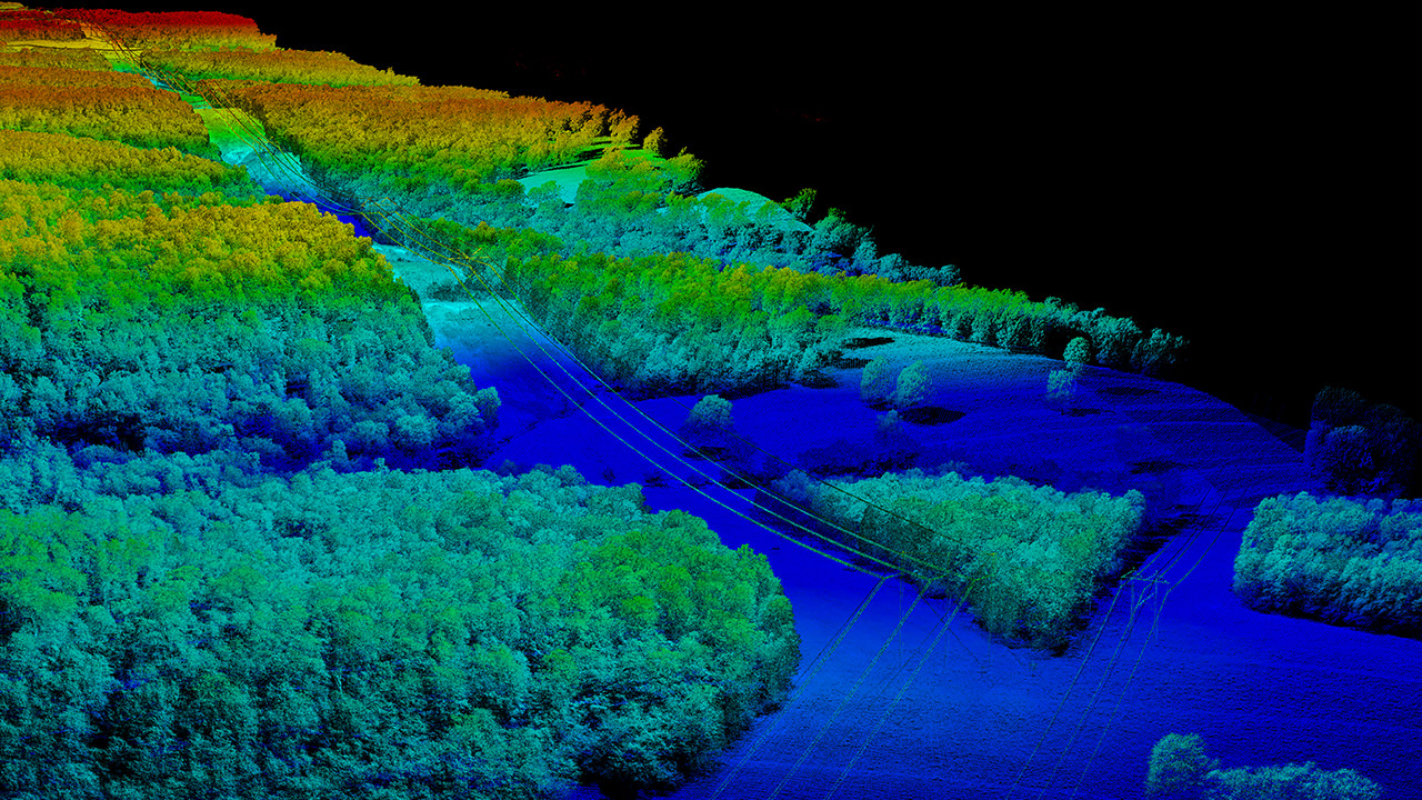 Utility Power Line Corridor Point Cloud