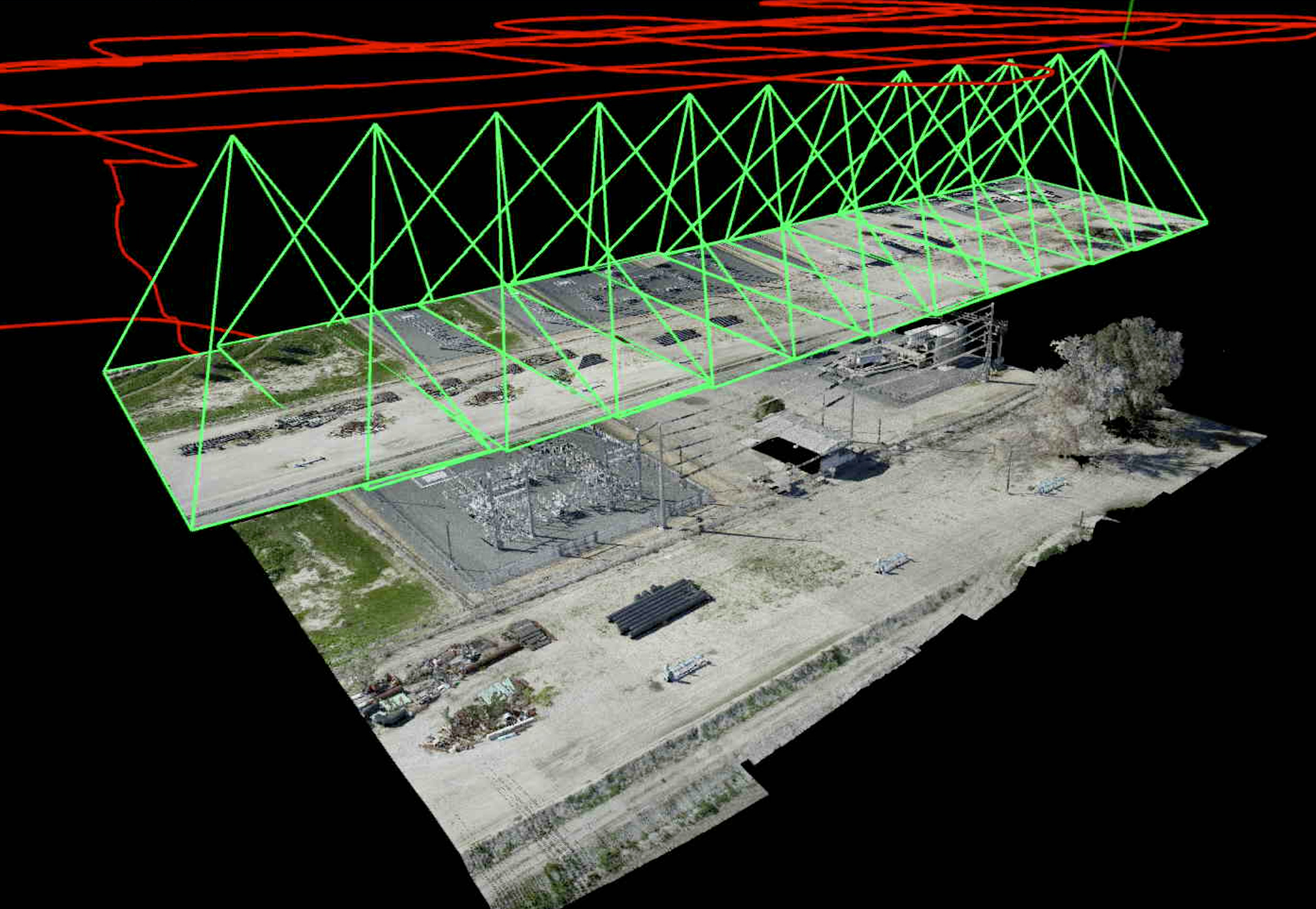 Trajectory Frustrum Point Cloud Sample -