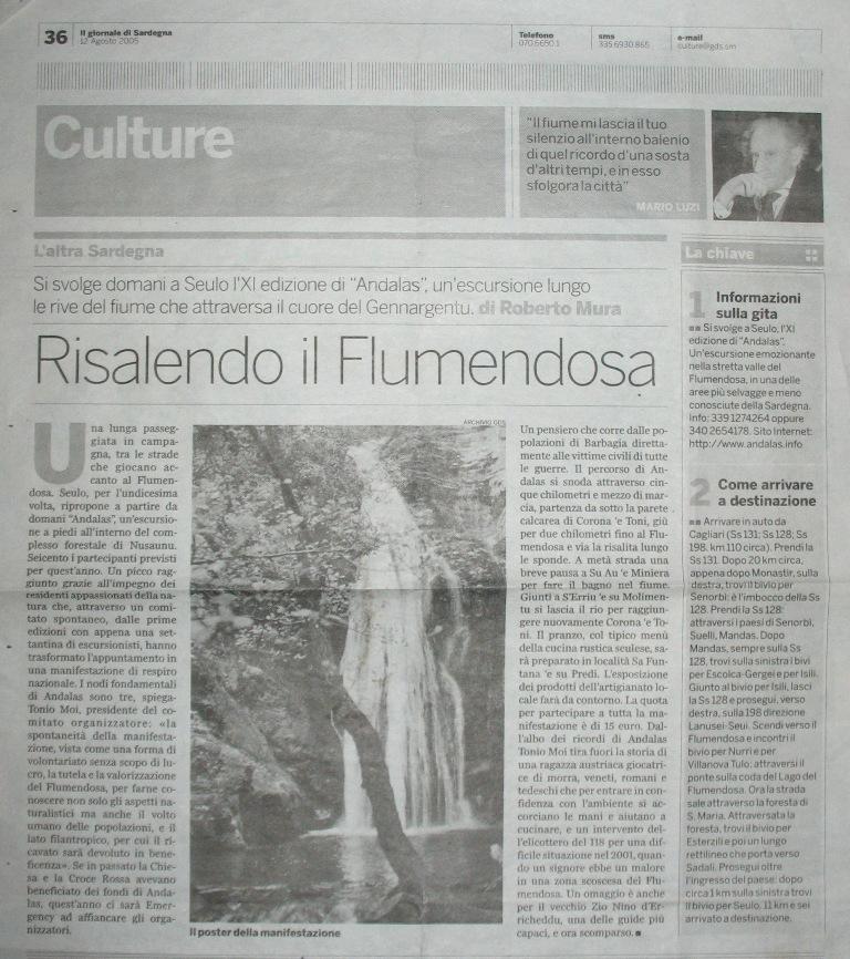 Il giornale di sardegna 12.08.2005.jpg