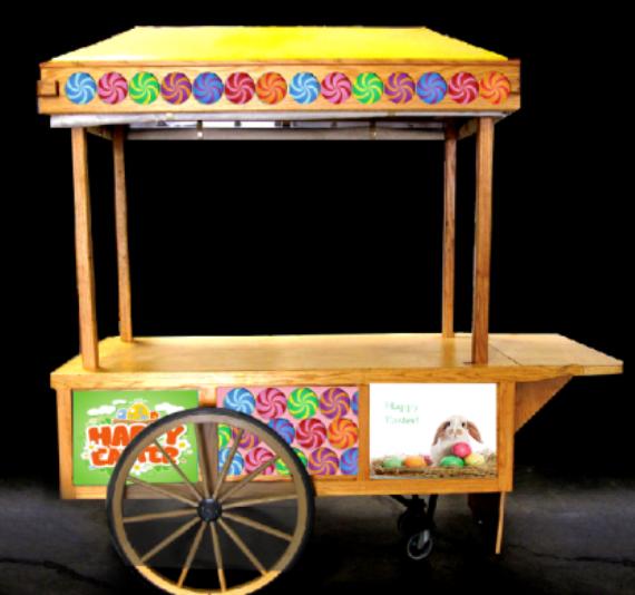 Wooden Pushcart