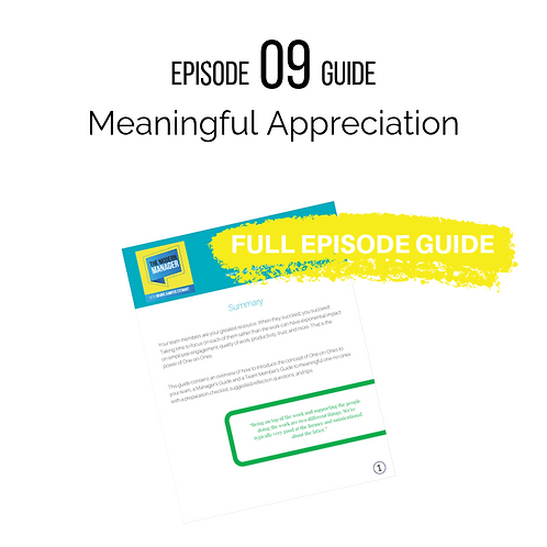 Guide 09: Meaningful Appreciation