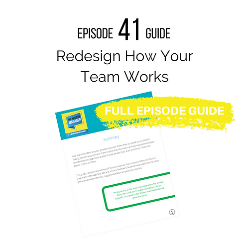 Guide to Episode 41: Guide to Redesign How Your Team Works