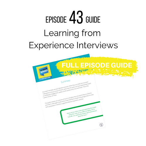 Guide to Episode 43: Learning from Experience Interviews