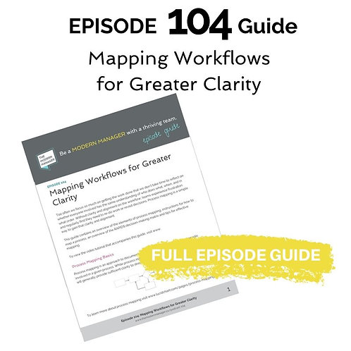 Guide to Episode 104: Mapping Workflows for Greater Clarity