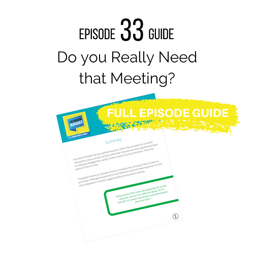 Guide to Episode 33: Do You Really Need That Meeting?