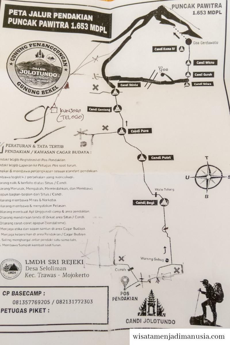 Peta Pendakian Gunung Penanggungan Untuk Dibawa