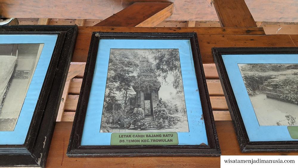 Kondisi Gapura Bajang Ratu saat pertama kali ditemukan