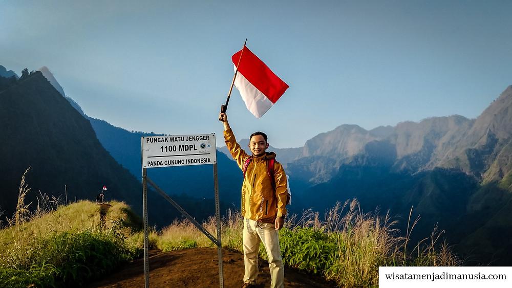 Puncak Bukit Watu Jengger dengan ketinggian 1100 MDPL