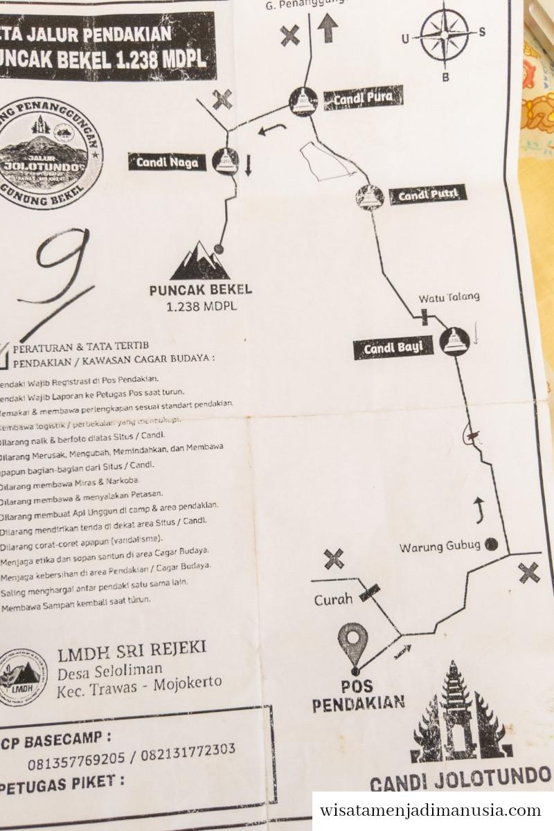 Peta Pendakian Gunung Bekel