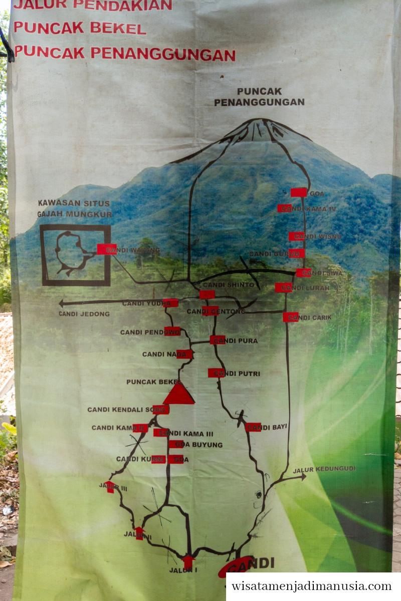 Peta Pendakian Gunung Bekel dan Gunung Penanggungan