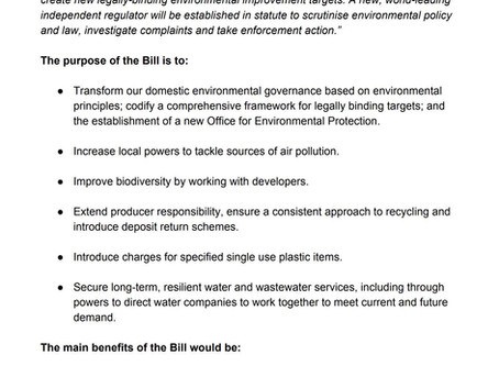 Environment Bill 2019 Published
