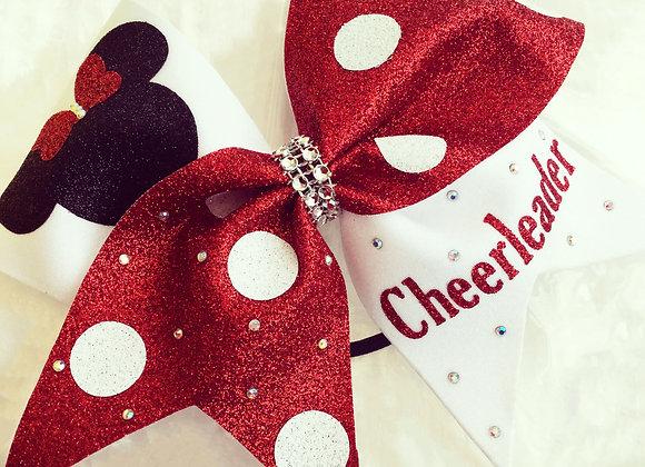 Minnie Mouse Cheerleader Bow