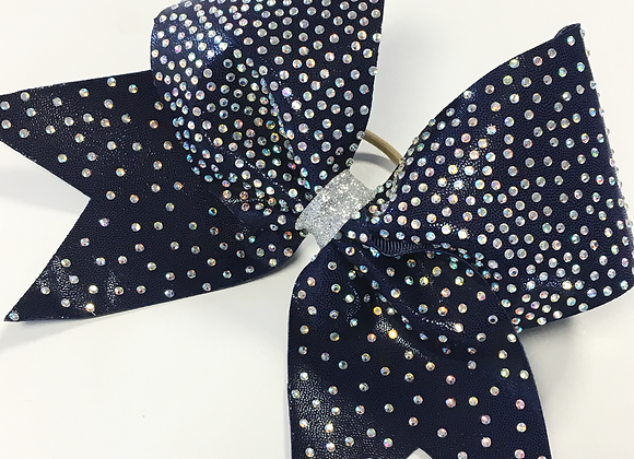 'Let it Stone' rhinestone bow
