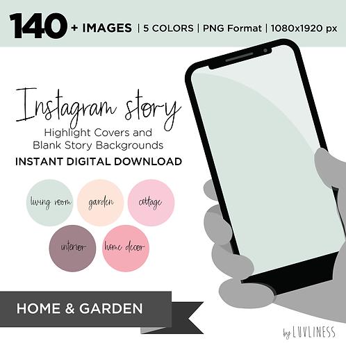 INSTAGRAM Story Highlight, Home & Garden Pack, Instant Download, Icecream Theme