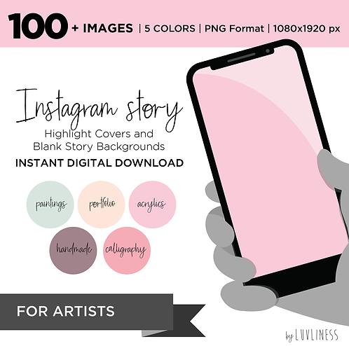 INSTAGRAM Story Highlight, Artist Pack, Instant Download, Icecream Theme