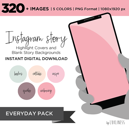 INSTAGRAM Story Highlight, Everyday Pack, Instant Download, Icecream Theme