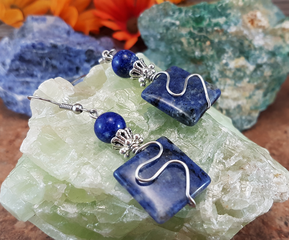 Creative Confidence, Lapis Lazuli Gemstone Earrings