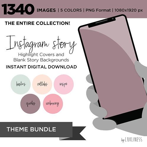 INSTAGRAM Story Highlight, MEGA BUNDLE, Instant Download, Icecream Theme