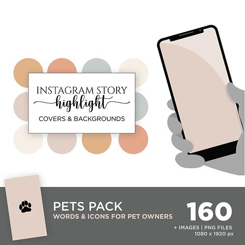 INSTAGRAM Story Highlight, Pets Pack, Instant Download, Desert Sky Theme